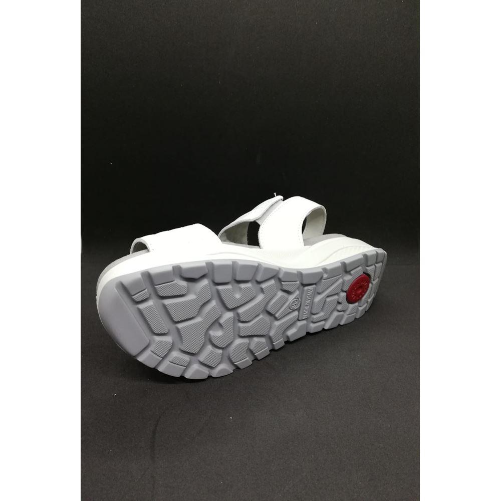 IMAC 309710 WHITE Tam Ortopedik İçe Basma Düz Tabanlık Sandaleti
