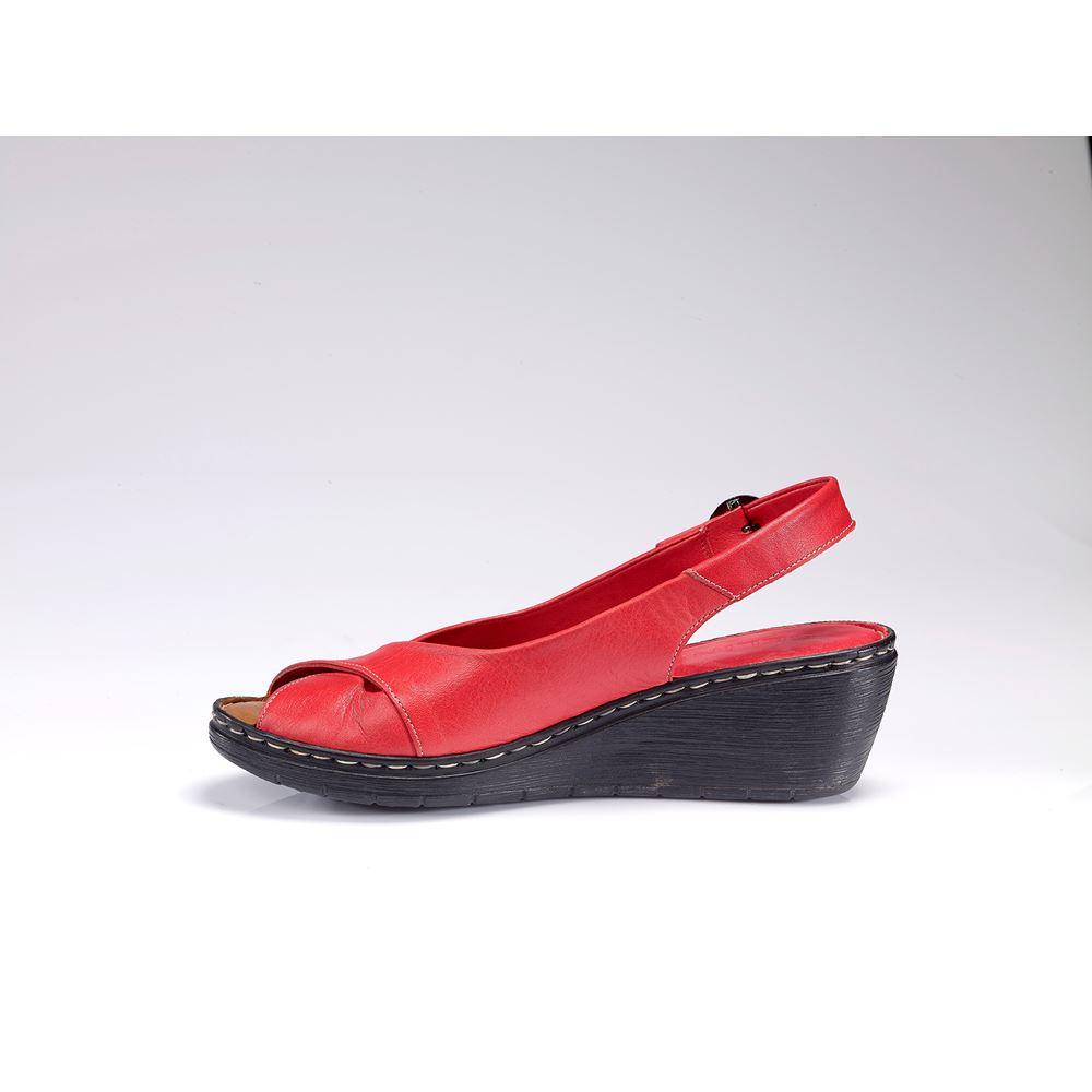 METSI RED  Hakiki Deri Sandalet
